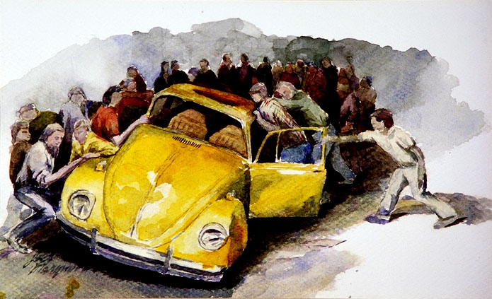 Water Color - VW in Riot