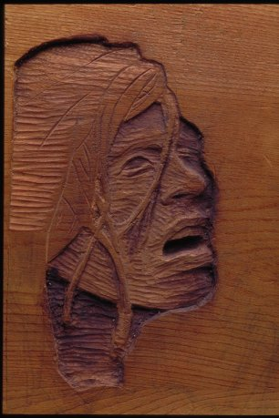 Wood Carving - Woman's Pain